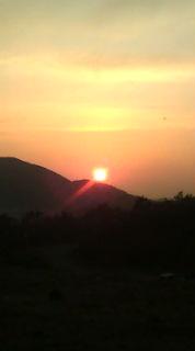 日の出→日の入り